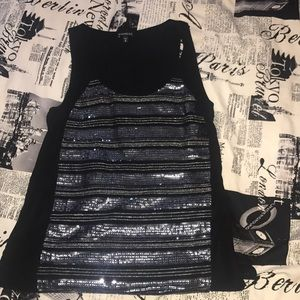 Small Express sequin tank top - gently used